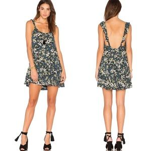Free People Dear You Green Floral Dress